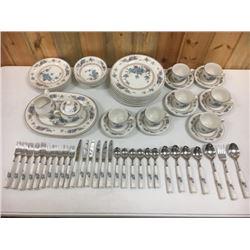 Blue & White Porcelain Dinner Service