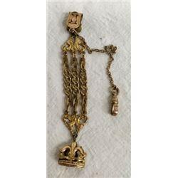 Antique Pocket Watch Gold Filled Fob