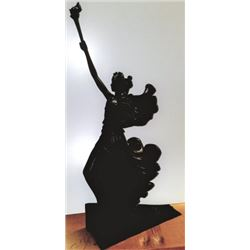 Bronze Lady Holding Torch