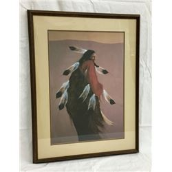 Framed Print Of Indian Dancing