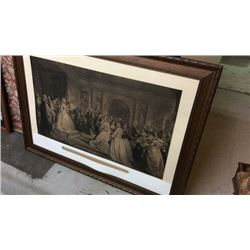 Lady Washington's Reception Steel Engraving