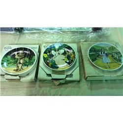 3 Wizard Of Oz Collector Plates