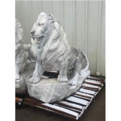 Life Size Lion Carved Marble