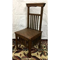Oak Photographer Chair With Adjustable Back