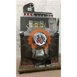Mills Busting Cherry 5 Cent Slot Machine