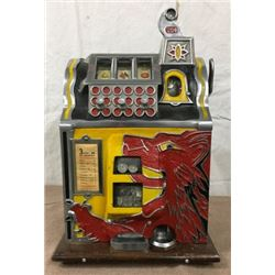 Mills Lion Front 25 Cent Slot Machine With