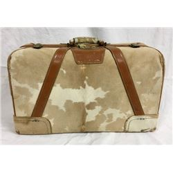 Cowhide Covered Suitcase