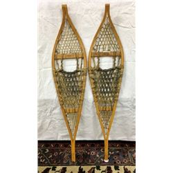 Pair Wood Snow Shoes