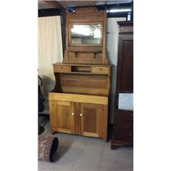 Early Dry Sink And Dresser Mirror