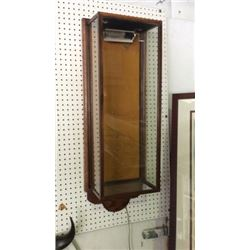 Oak Wall Hanging Display Cabinet