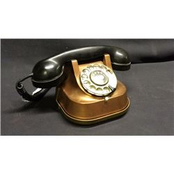 Early Copper Rotary Phone