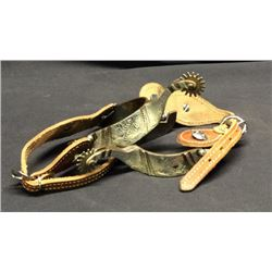 Silver Mounted Spurs With Straps