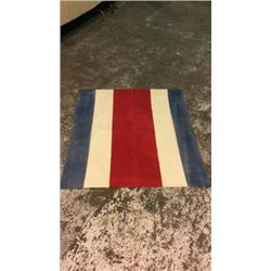 Early Red White Blue Parade Flag 1900's