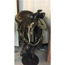 Silver Spotted Parade Saddle And Breast Collar