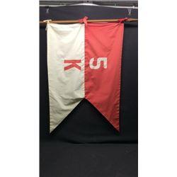 Nylon Red/white K 5 Guidon