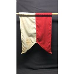 K Co Red/white Guidon On A Halberd Flag Pole