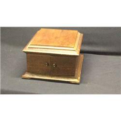 Oak Antique Record Player Cabinet