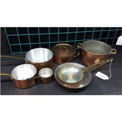 8pc Copper Cookware