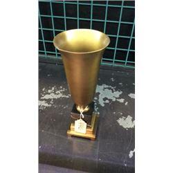 Brass On Marble Vase