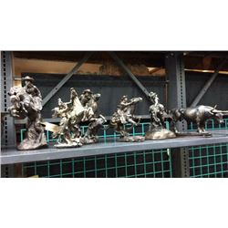 6 Resin Western Statues