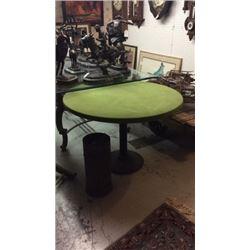 Original Saloon Poker Table Cast Iron Base