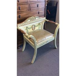 Ardley Hall Hand painted Chair 33''H x 34'' W x