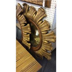 Gold Star Burst Mirror Hand Carved Boarder 40'' x