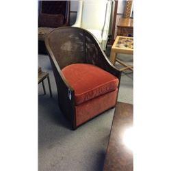 Century Round Plush Chair 37''T x 25''W x 26''D