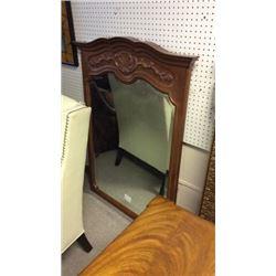 Beveled  mirror wood frame 51''T x 37''W