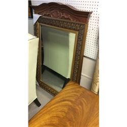 Beveled Mirror in Gold Frame 45''T x 32''W