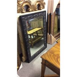 American Decor Beveled Mirror in Hand Carved Wood