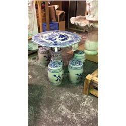 Oriental Accents Porcelain Garden Set