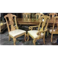 FFDM 8 Hand Carved Dinning Room Chairs