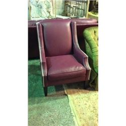 Distinction Leather Co Chair with Silver Nail