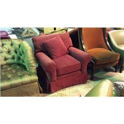Maitland Smith Overstuffed Club Chair 36''T x