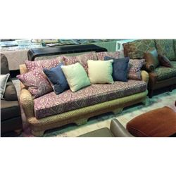 Century Exquisite Water Hyacin Sun Room Sofa with