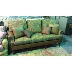 Distinction Leather Co Leather and Fabric Sofa