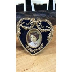 Brass and Enamel Picture Frame