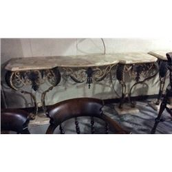 Maitland Smith Bronze and Cast Iron Wall Console