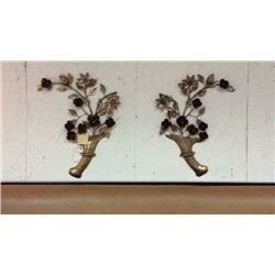 Ardley Hall Pair Decorative Metal Wall Hangings