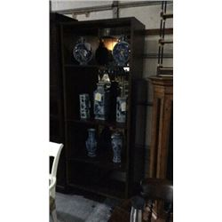 Century Mirror Back Book Case