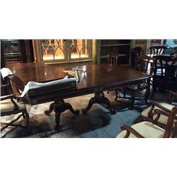 Century Ornate Inlaid Dinning Room Table 85''L x