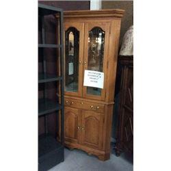 Colonial Oak Corner Cabinet