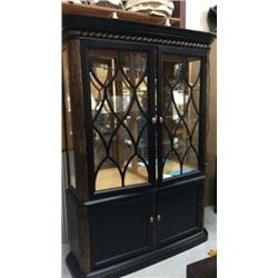 Drexel Heritage Book Case / Curio with Gold