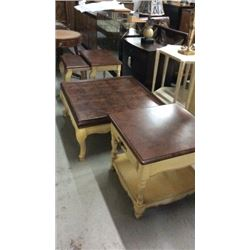 Hickory MFG 3 pc Coffee & End Table Set