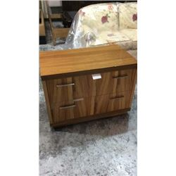 Century Low 2 Drawer Chest with Walnut Veneers