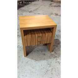 Century Walnut Veneer Night Stand with Pull out
