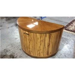 Century Demilune Round Front Entry Table / Server