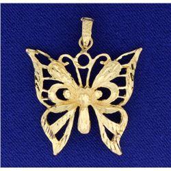 Diamond Cut Butterfly Charm or Pendant