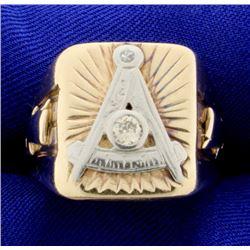 Diamond Mason Ring